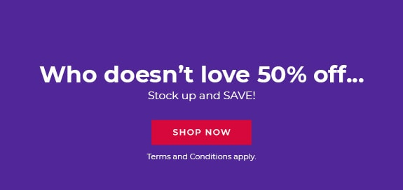 Who doesn't love 50% off…