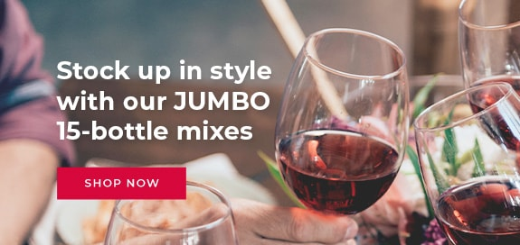 Stock up in style with our JUMBO 15-bottle mixes!